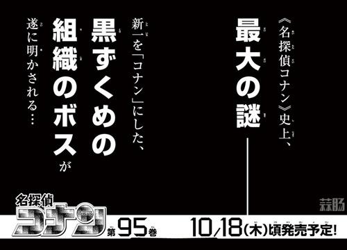 《名侦探柯南》黑衣组织BOSS即将于单行本95卷揭晓! 动漫