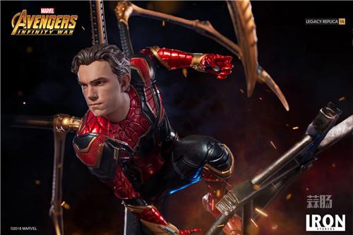 Iron Studios1/4《复仇者联盟3》钢铁蜘蛛侠来袭! 雕像 蜘蛛侠 复仇者联盟3 模玩  第3张
