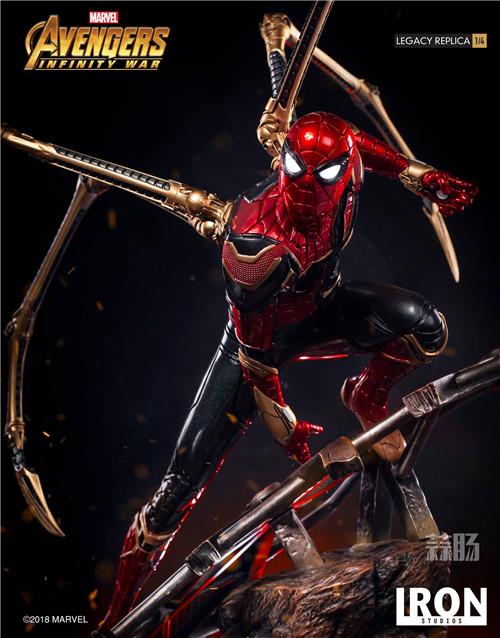 Iron Studios1/4《复仇者联盟3》钢铁蜘蛛侠来袭! 雕像 蜘蛛侠 复仇者联盟3 模玩  第6张