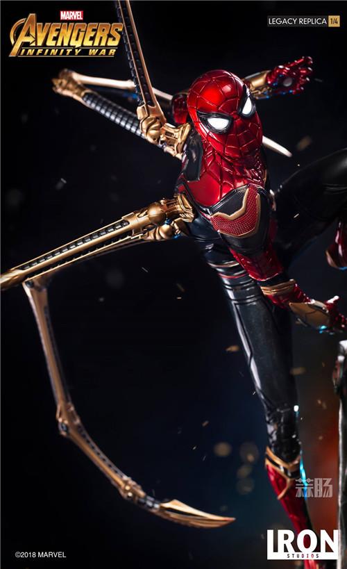 Iron Studios1/4《复仇者联盟3》钢铁蜘蛛侠来袭! 雕像 蜘蛛侠 复仇者联盟3 模玩  第5张