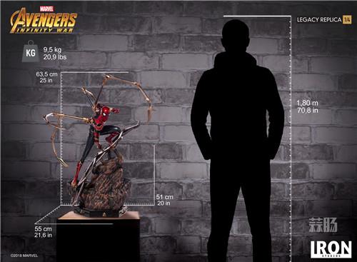 Iron Studios1/4《复仇者联盟3》钢铁蜘蛛侠来袭! 雕像 蜘蛛侠 复仇者联盟3 模玩  第7张