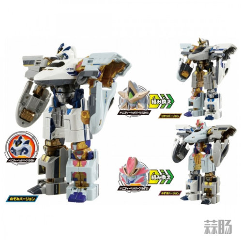 TakaraTOMY《新干线变形ROBOT SHINKALION》 三合体套装来袭! 模玩 第5张