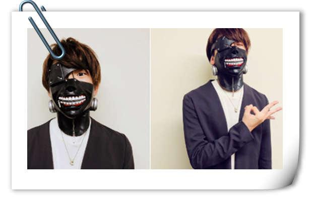 官方为花江夏树制作金木研口罩面具!