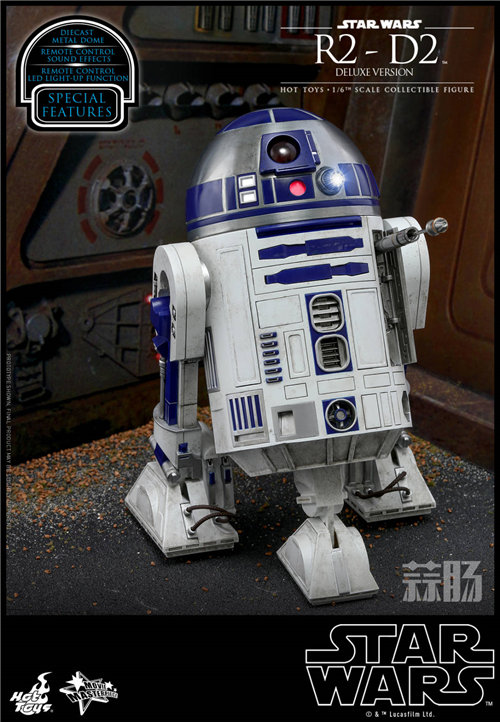 Hot Toys推出《星球大战》豪华版本R2-D2 1:6比例珍藏人偶 模玩 第3张