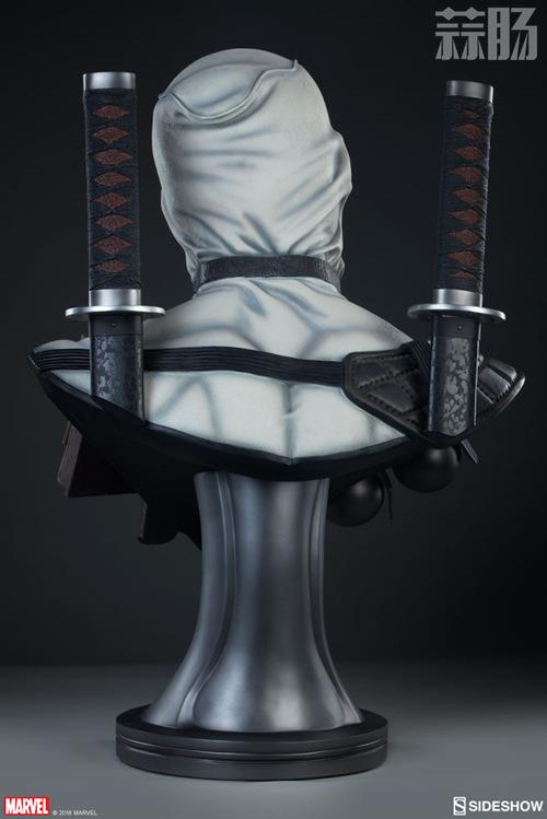 Sideshow 公布 1:1漫画版X特工队白色死侍胸像 模玩 第4张