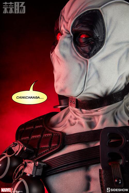 Sideshow 公布 1:1漫画版X特工队白色死侍胸像 模玩 第9张