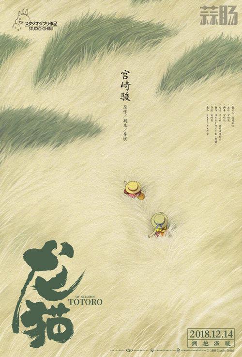 宫崎骏经典动画《龙猫》中国版海报公开 设计者竟是大名鼎鼎的他 黄海 龙猫 宫崎骏 动漫  第1张
