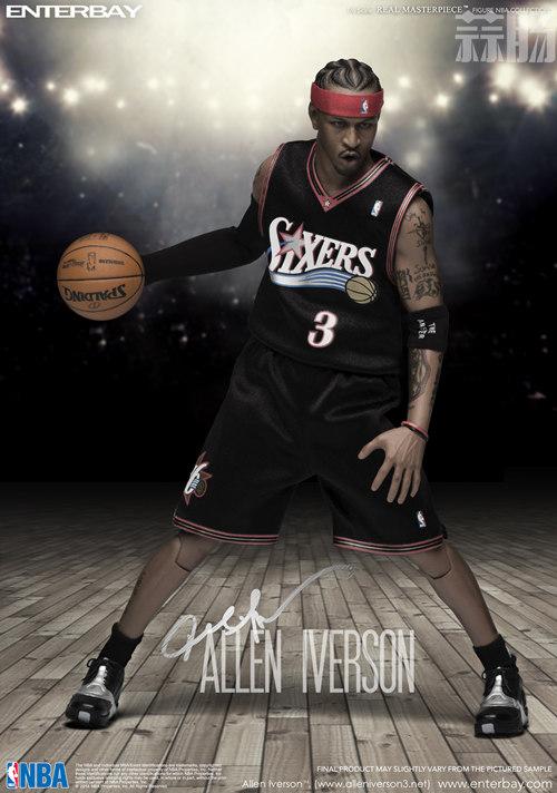 ENTERBAY 1:6 NBA系列 艾弗森官图公布 模玩 第3张