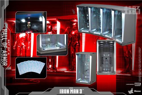 Hot Toys 《钢铁侠3》1:6比例还原装甲格纳库珍藏品公布 模玩 第3张