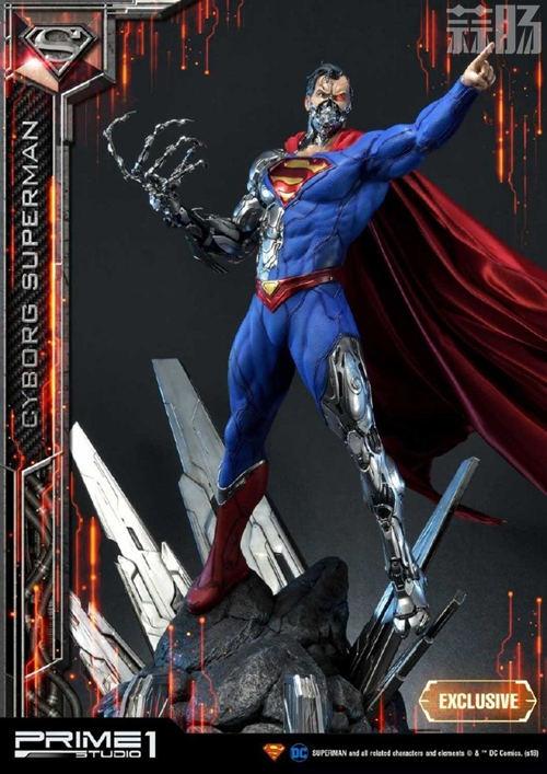 这款超人手办厉害了 普通版也要8000元? DC 机械超人 雕像 超人 模玩  第1张