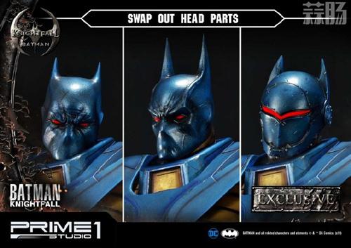 P1S 发布 DC漫画版骑士陨落版蝙蝠侠雕像  将近8000元 模玩 第8张