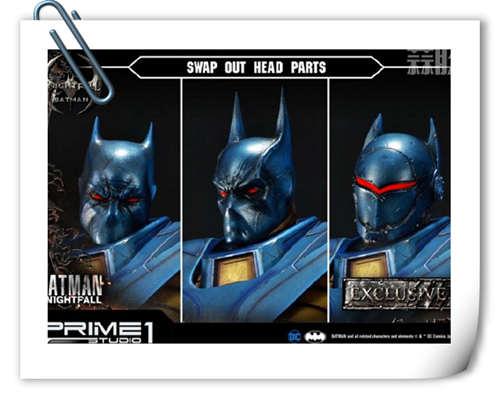 P1S 发布 DC漫画版骑士陨落版蝙蝠侠雕像  将近8000元