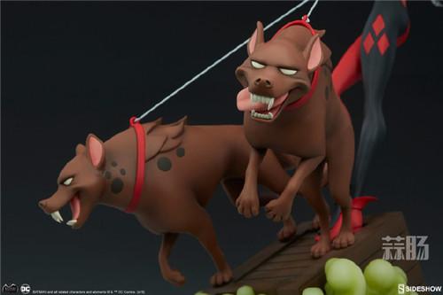 Sideshow公布一款蝙蝠侠动画系列小丑女和鬣狗的人偶! 人偶 Sideshow 蝙蝠侠 模玩 模玩  第8张