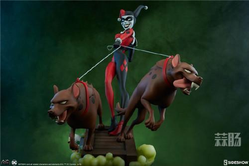 Sideshow公布一款蝙蝠侠动画系列小丑女和鬣狗的人偶! 人偶 Sideshow 蝙蝠侠 模玩 模玩  第6张