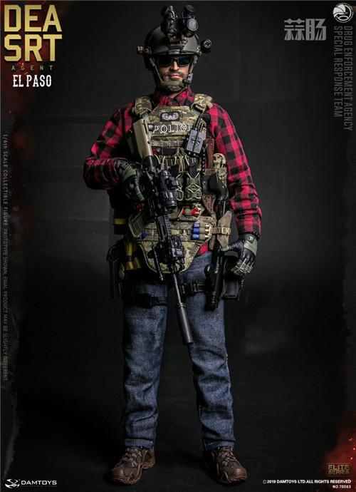 DAM推出精英系列1/6 美国DEA缉毒局-SRT特别响应小队探员 模玩 第2张