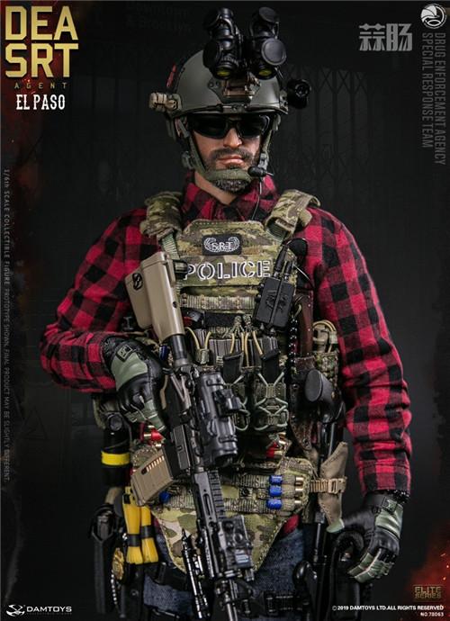 DAM推出精英系列1/6 美国DEA缉毒局-SRT特别响应小队探员 模玩 第1张