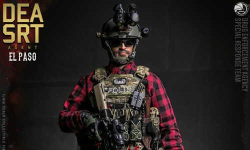 DAM推出精英系列1/6 美国DEA缉毒局-SRT特别响应小队探员