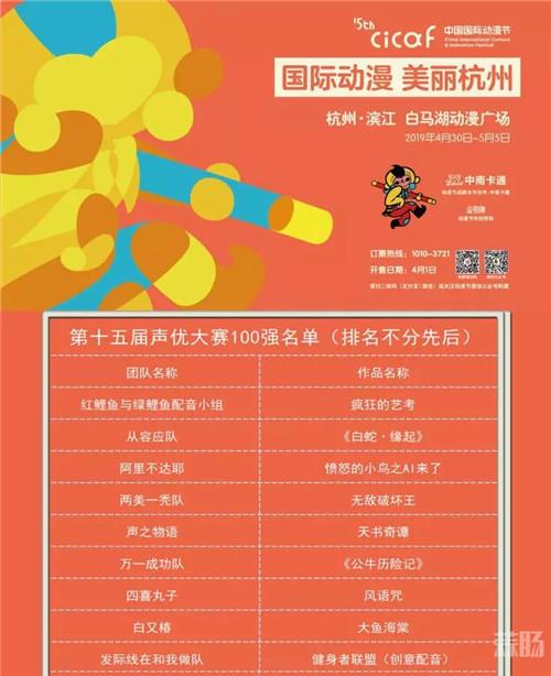 声优百强,为你倾听——中国国际动漫节倒计时20天 漫展 第2张