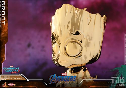 Hot Toys推出漫威《复仇者联盟4》COSBABY第三浪-金属金色版 模玩 第1张