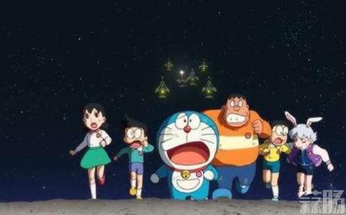 《哆啦A梦》剧场版中文海报,首次抵达月球背面 动漫 第2张