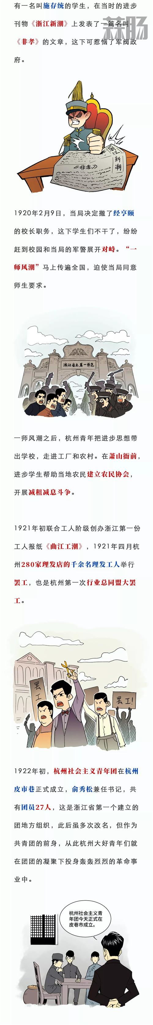 一张漫画看百年前的杭州青年 漫展 第4张