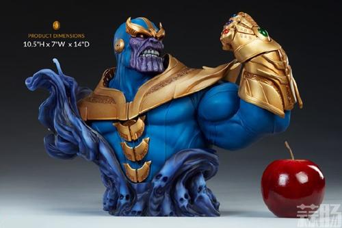 Sideshow新品:10.5寸漫威系列- Thanos/灭霸 半身胸像 模玩 第3张