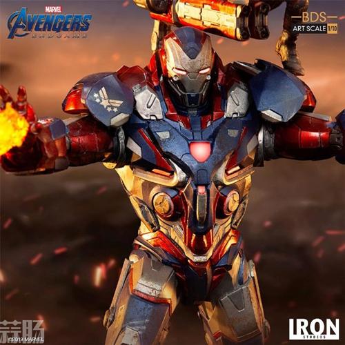 Iron Studios推出《复仇者联盟4:终局之战》1/10钢铁爱国者和火箭熊雕像 模玩 第2张