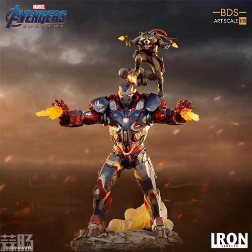 Iron Studios推出《复仇者联盟4:终局之战》1/10钢铁爱国者和火箭熊雕像 模玩 第1张