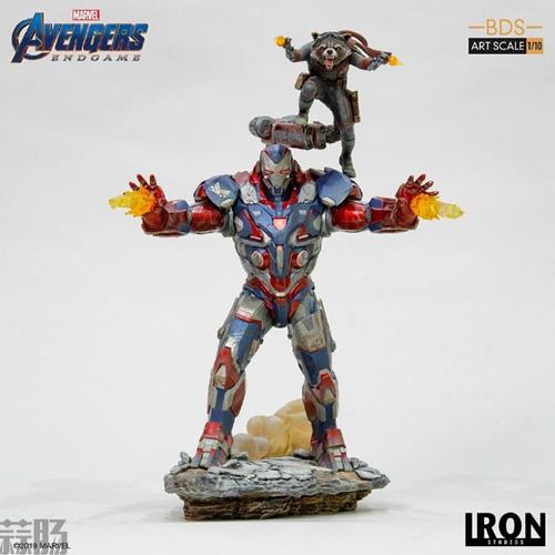 Iron Studios推出《复仇者联盟4:终局之战》1/10钢铁爱国者和火箭熊雕像 模玩 第5张