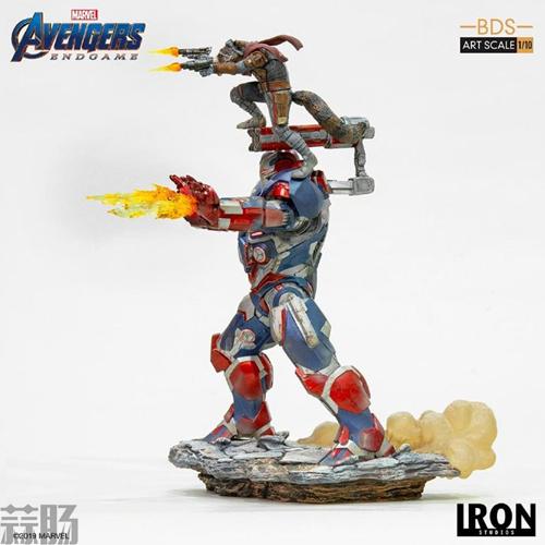 Iron Studios推出《复仇者联盟4:终局之战》1/10钢铁爱国者和火箭熊雕像 模玩 第8张