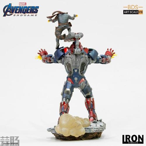 Iron Studios推出《复仇者联盟4:终局之战》1/10钢铁爱国者和火箭熊雕像 模玩 第7张