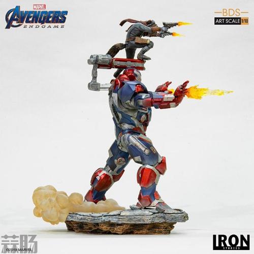 Iron Studios推出《复仇者联盟4:终局之战》1/10钢铁爱国者和火箭熊雕像 模玩 第4张