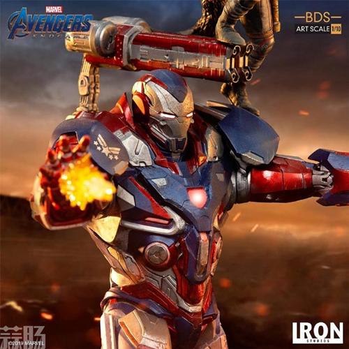 Iron Studios推出《复仇者联盟4:终局之战》1/10钢铁爱国者和火箭熊雕像 模玩 第6张