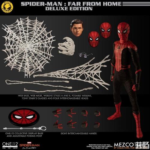 Mezco Toyz蚂蚁推出1/12《蜘蛛侠:英雄远征》蜘蛛侠DX版 模玩 第7张