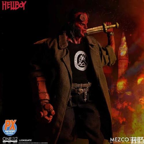 Mezco Toys 发布 ONE:12 Collective系列 限定款Hellboy 地狱男爵人偶 模玩 第4张