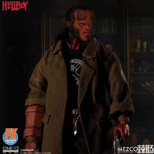 Mezco Toys 发布 ONE:12 Collective系列 限定款Hellboy 地狱男爵人偶 模玩 第2张