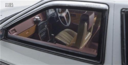 京商推出1/18《头文字D新剧场版》 AE86车模 带主角藤原拓海 汽车模型 第8张