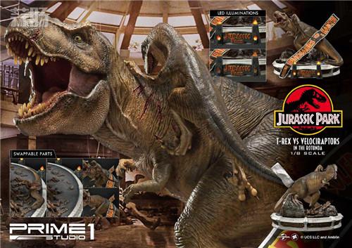 Prime 1 Studio 公布《侏罗纪公园 》霸王龙对决迅猛龙雕像 模玩 第3张