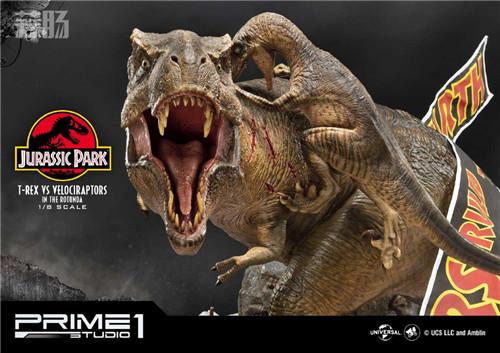 Prime 1 Studio 公布《侏罗纪公园 》霸王龙对决迅猛龙雕像 模玩 第7张