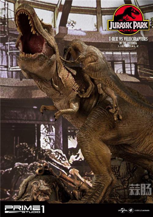 Prime 1 Studio 公布《侏罗纪公园 》霸王龙对决迅猛龙雕像 模玩 第8张