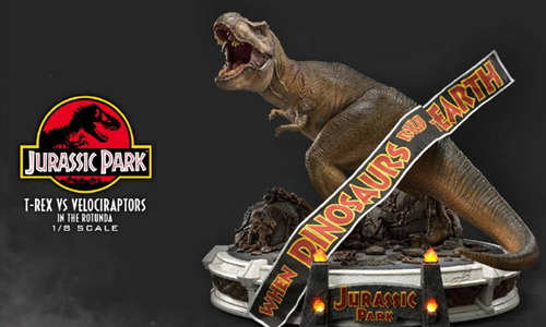Prime 1 Studio 公布《侏罗纪公园 》霸王龙对决迅猛龙雕像