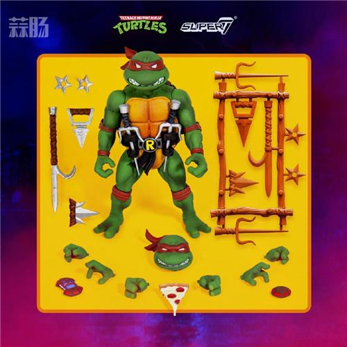 Super7 发布《忍者神龟》可动人偶官图 模玩 第2张