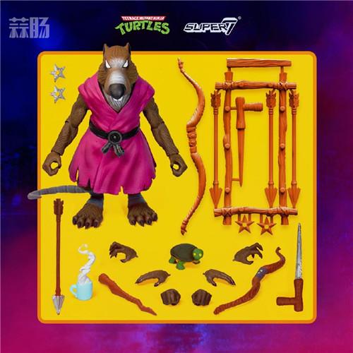 Super7 发布《忍者神龟》可动人偶官图 模玩 第1张