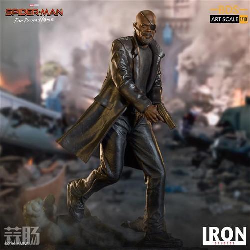 Iron Studios 公布《蜘蛛侠:英雄远征》尼克弗瑞雕像 模玩 第4张