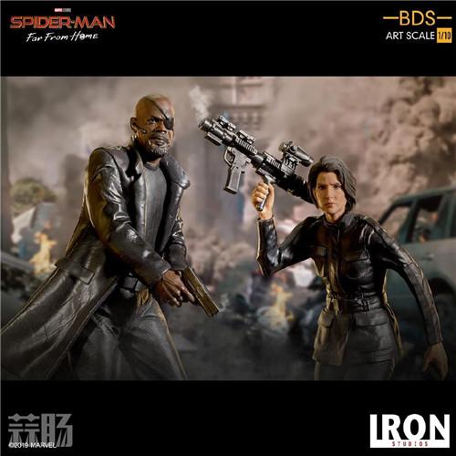 Iron Studios 公布《蜘蛛侠:英雄远征》尼克弗瑞雕像 模玩 第7张