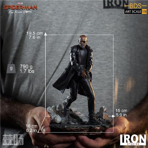 Iron Studios 公布《蜘蛛侠:英雄远征》尼克弗瑞雕像 模玩 第9张