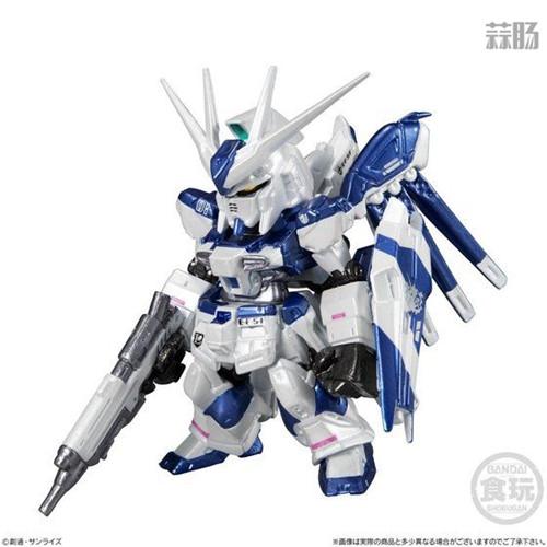 万代推出CORE系列食玩金属色RX-93II牛高达与MSN-04II夜莺 模玩 第3张