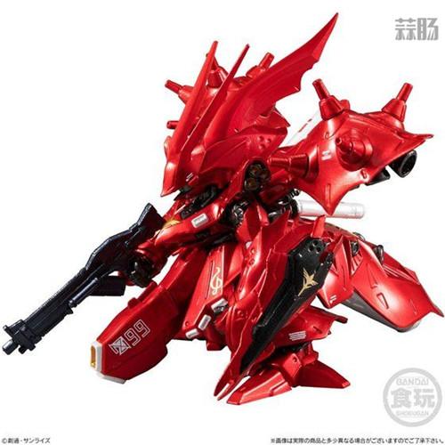 万代推出CORE系列食玩金属色RX-93II牛高达与MSN-04II夜莺 模玩 第9张
