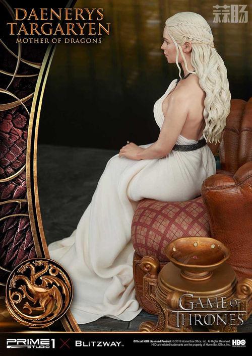 Blitzway和P1S联名发布《权利的游戏》龙妈雕像 定价超8000元 模玩 第5张