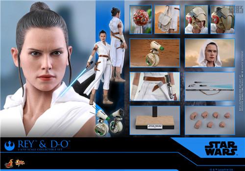 Hot Toys《星球大战:天行者崛起》蕾伊 & D-O 1:6比例珍藏人偶套装 模玩 第6张